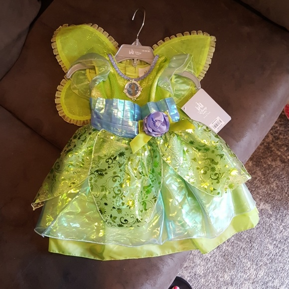 DISNEY STORE TINKER  BELL  COSTUME FOR  BABY SIZE 18-24